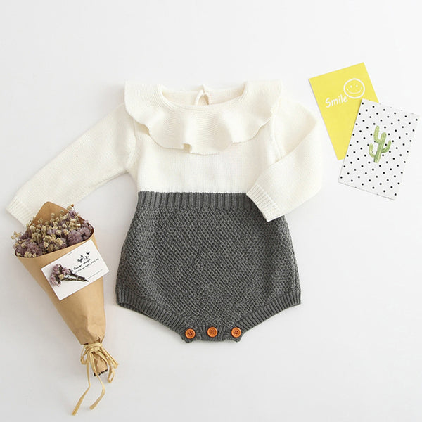 Girls Romper long sleeve Knitted Sweater