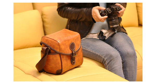 PU Leather Camera Bag