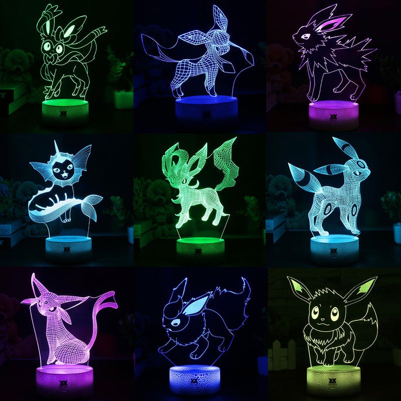 3D USB Cartoon Night Light Lamp