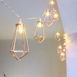 Iron Metal Diamond LED Fairy String Lights