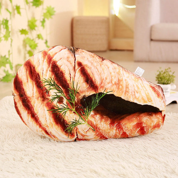 1pc Simulation Food Roasted Suckling Plush Pillow