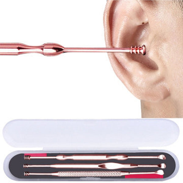 3Pcs Stainless Steel Ear Wax Removal Kit
