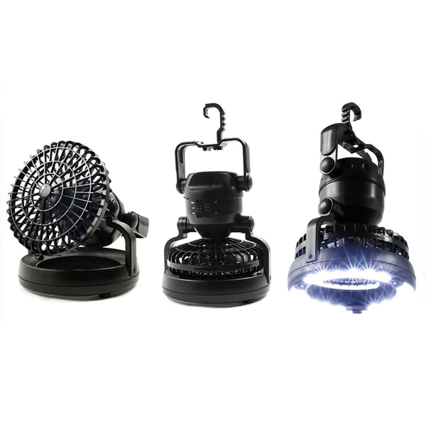 2 In 1 Portable LED Camping Lantern With  18 LED Flashlight