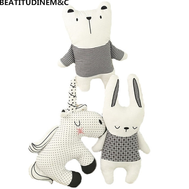 Nordic Style Rabbit Unicorn Bear Pillow Cushion Toys