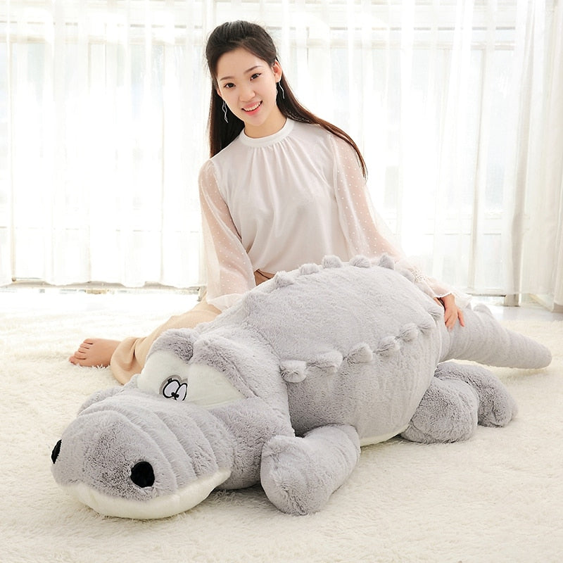 Big Size Crocodile Lying Section Plush Pillow Mat