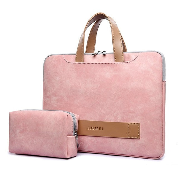 Waterproof  PU Leather Laptop bag