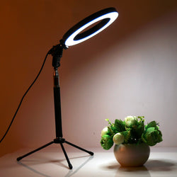 LED Studio Camera Ring Light Lamp With Tripod