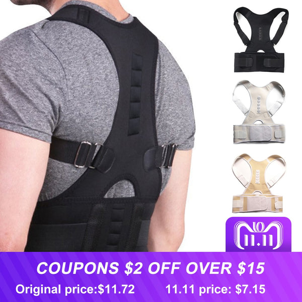 Uni-Sex Adjustable Magnetic Posture Corrector