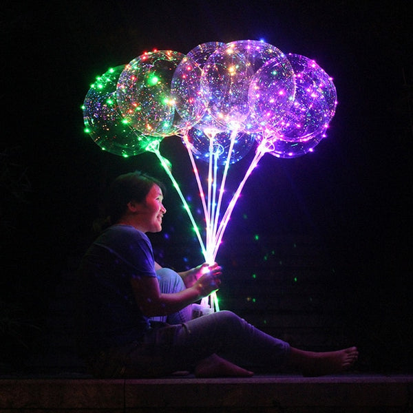 Transparent Reusable Luminous Led Balloon