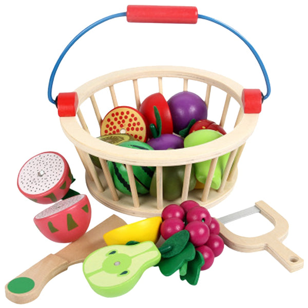 12Pcs Magnetic Wooden Fruit and Vegetable