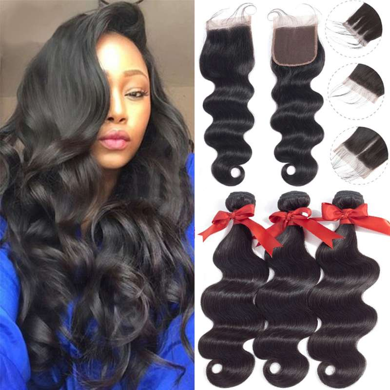 Brazilian Wave 3 Bundles With Closure