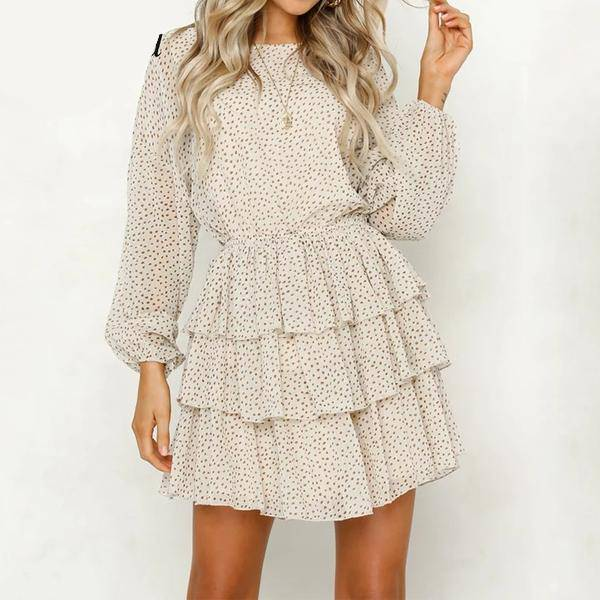 polka dot mini party women dress