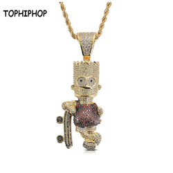 Cartoon Simpson Brass Pendant
