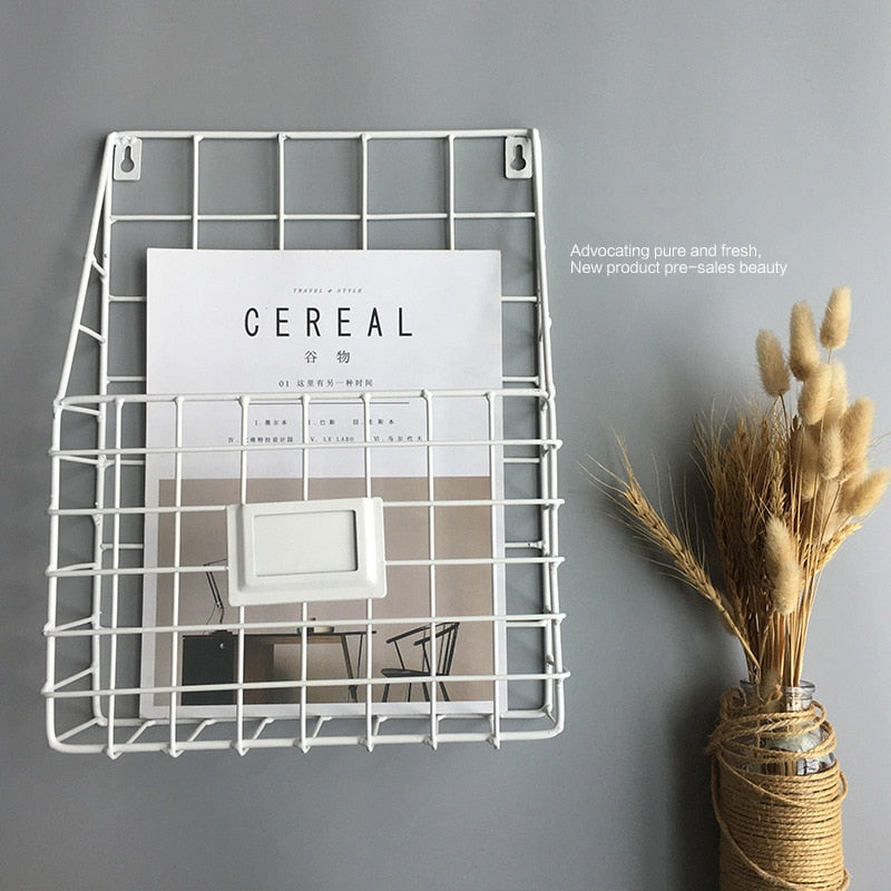 Book S  Wire Magazine Newspaper Basket Wall Mounted