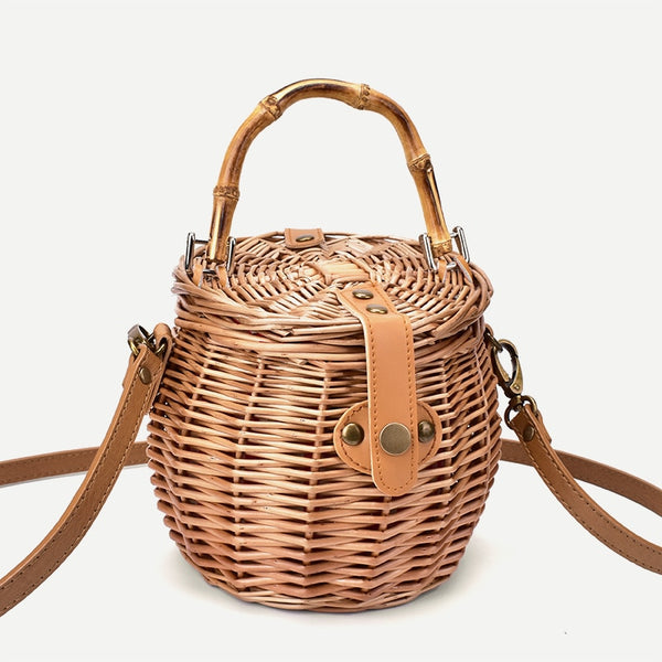 new straw retro rattan handbag