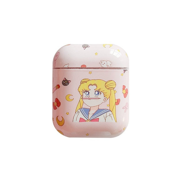 Cute Sailor Moon Pink airpods case
