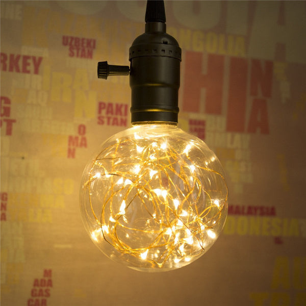 Vintage LED Bulb E27 220V 110V Multi Color