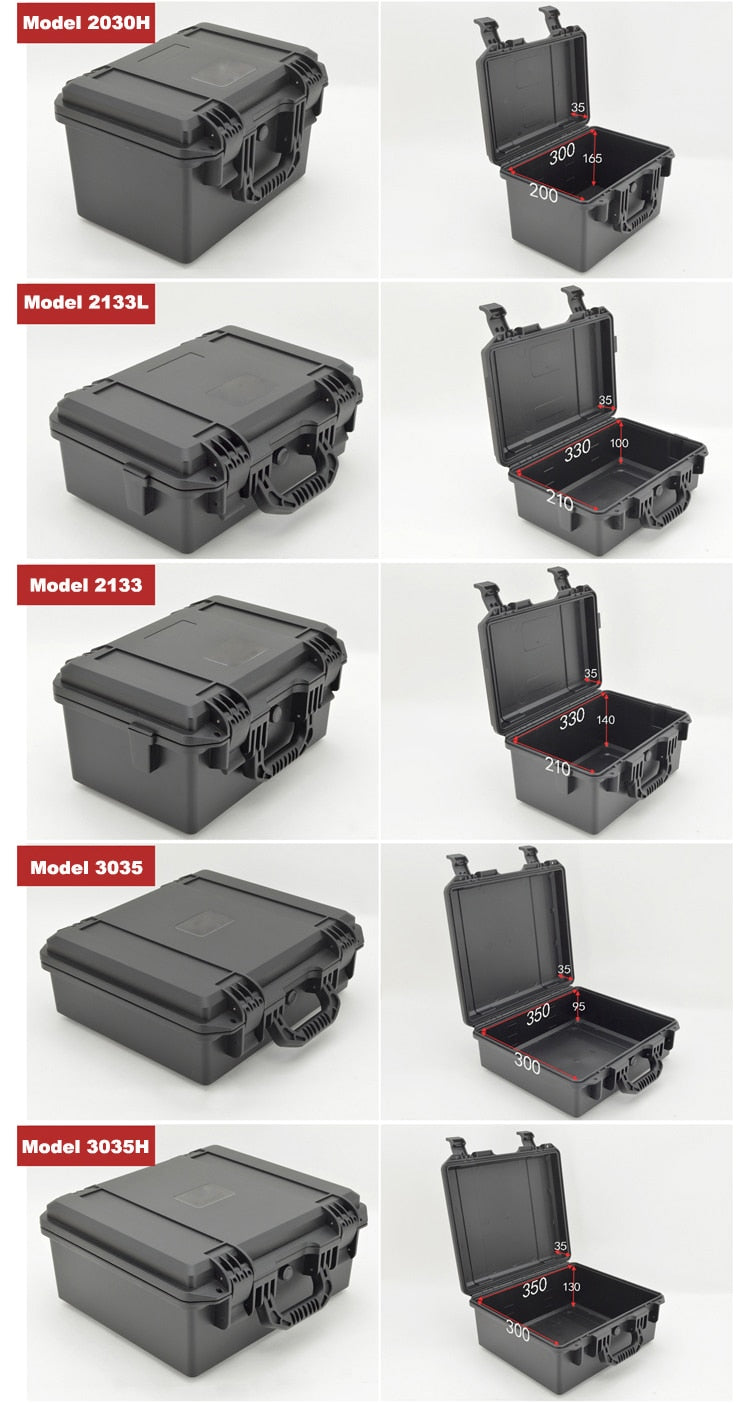 Plastic safety box Photographic instrument Tool case