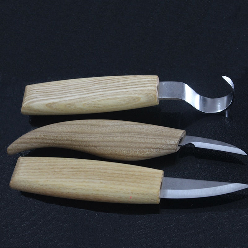 3pcs Stainless Steel Woodcarving Cutter tool sets