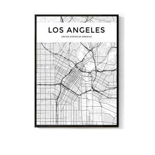 City Map Wall Art