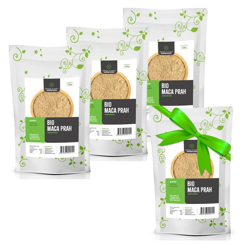 BIO maca prah Green Planet Superfoods 125g 3+1 gratis