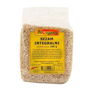Bio sezam integralni Biorganic 200g - Alternativa Webshop