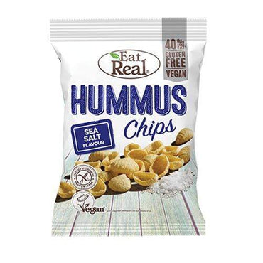 Čips bez glutena od humusa s morskom soli Eat Real 45g - Alternativa Webshop