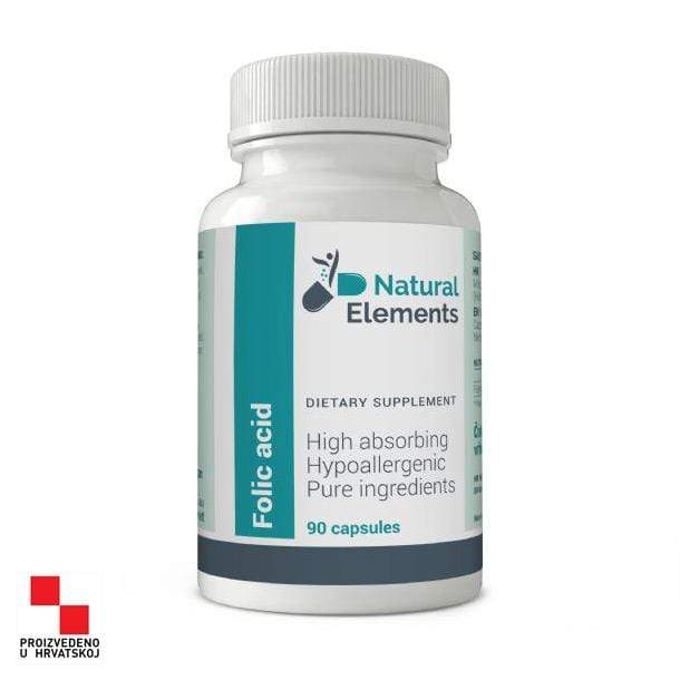 Folic acid Natural Elements 90 kapsula - Alternativa Webshop