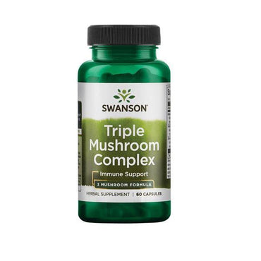 High-Potency Triple Mushroom Complex Swanson 60 kapsula