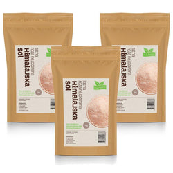 Himalajska sol sitna roza nejodirana Only Nature komplet 3kg - Alternativa Webshop