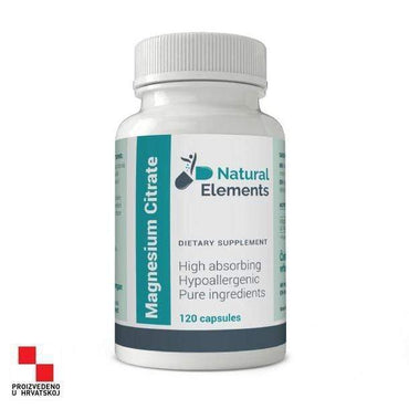 Magnesium Citrate Natural Elements 120kapsula - Alternativa Webshop