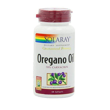 Oregano Oil 70% Carvacrol Solaray 60 perli - Alternativa Webshop