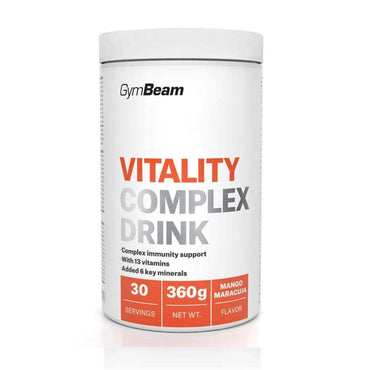 Vitality Complex Drink mango marakuja GymBeam 360g - Alternativa Webshop
