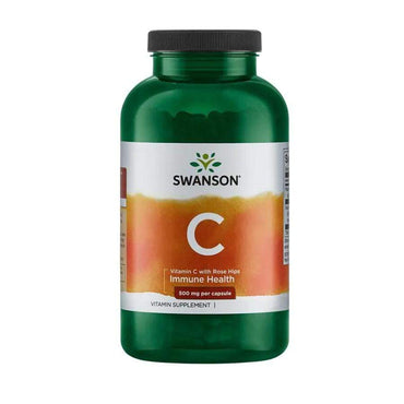 Vitamin C 500 with Rose Hips Swanson 100 kapsula - Alternativa Webshop