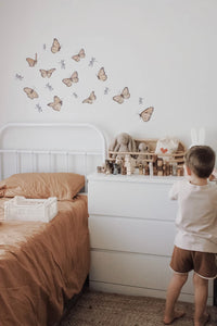 """Follow the Sun"" Butterfly Fabric Wall Decal"