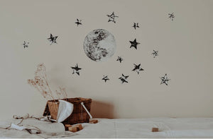 The Moon & Stars Fabric Wall Decal