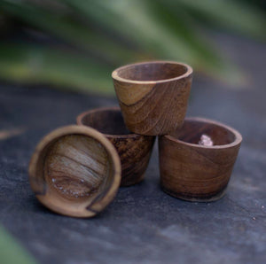 Mini Wooden Pots