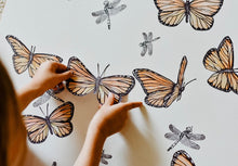 "Load image into Gallery viewer, ""Follow the Sun"" Butterfly Fabric Wall Decal"