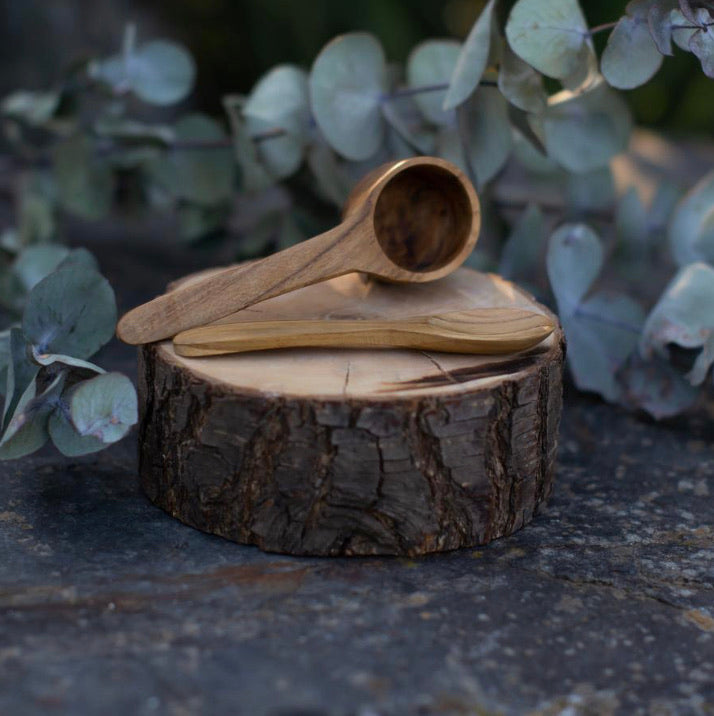 Mini Wooden Scoop & Spoon