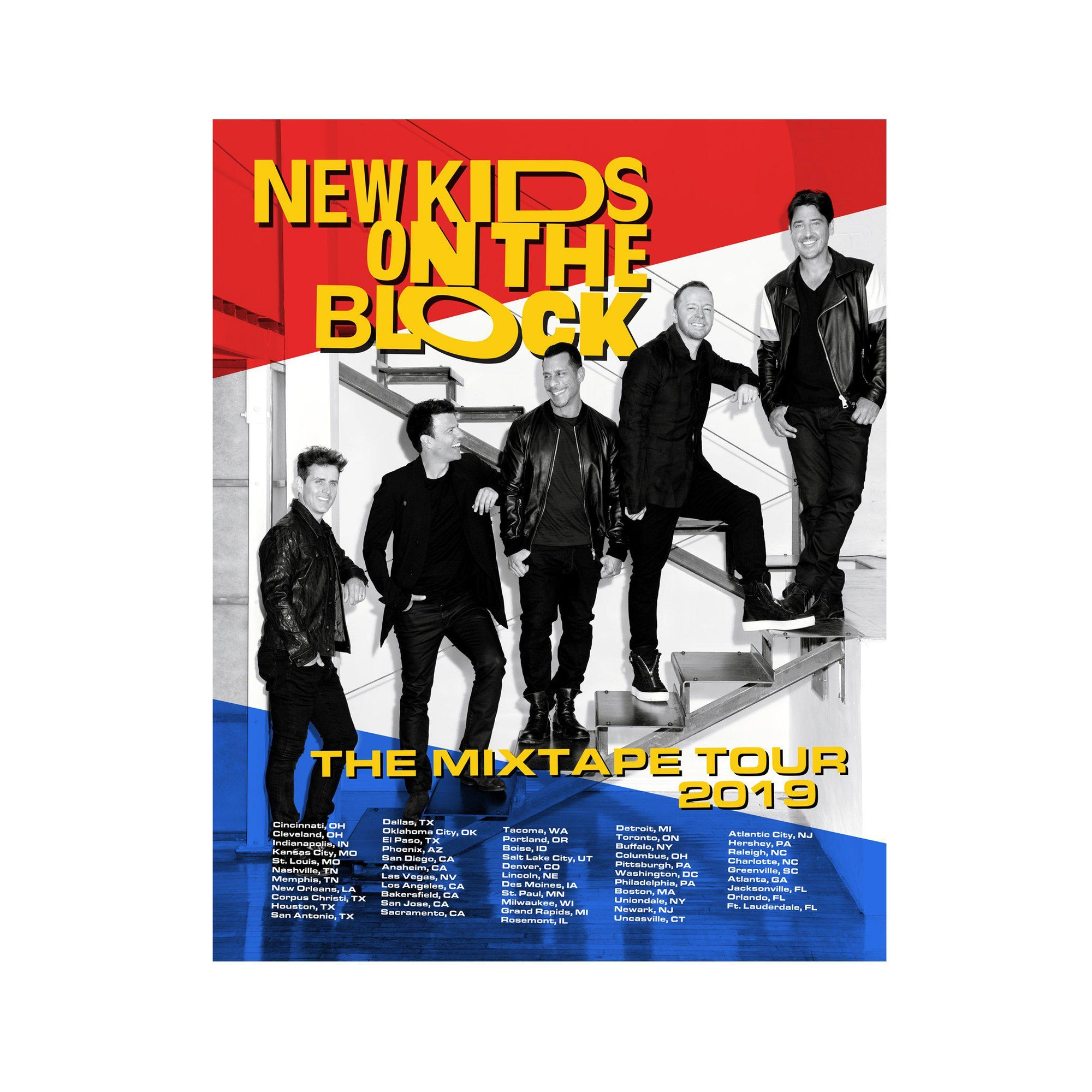 6cecade76 New Kids on the Block - The Mixtape tour poster - New Kids on the ...