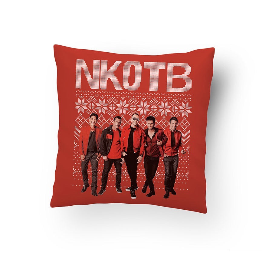 NKOTB Holiday Pillow