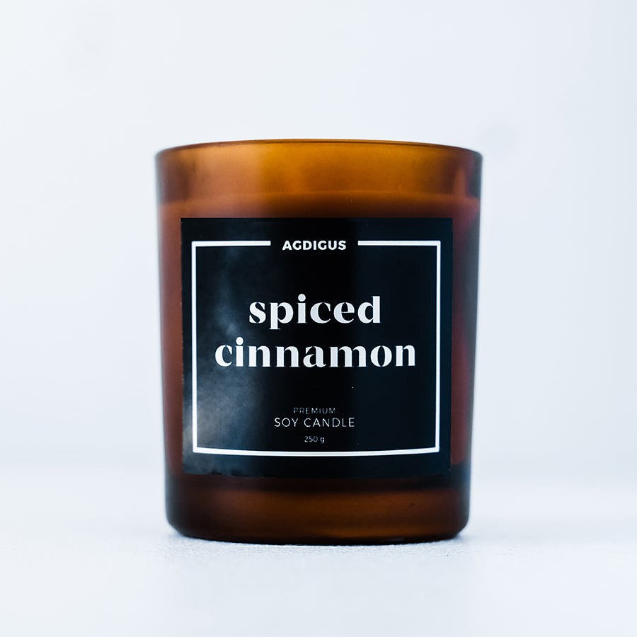 SPICED CINNAMON SOY CANDLE - Agdigus Essentials