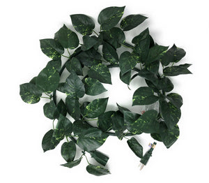 electroVine | 6 Foot Indoor/Outdoor Extension Cord with Realistic Pothos Leaves