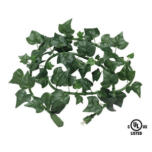 electroVine | 6 Foot Indoor/Outdoor Extension Cord with Realistic Ivy Leaves
