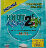 Knot 2 Kinky 7-Strand Nickel-Titanium Fishing Leader Wire