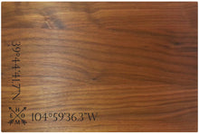"Load image into Gallery viewer, 9"" x 12"" Cutting Board Latitude & Longitude"