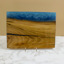 Load image into Gallery viewer, Maui Blue Edge Swirl Resin Serving Board