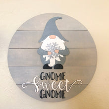 "Load image into Gallery viewer, Interchangeable Gnome Sweet Gnome Sign- 18"" Basic"