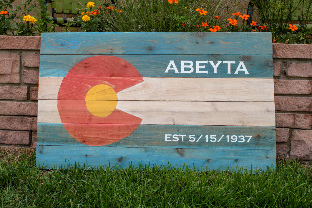 Personalized Colorado Pallet Flag