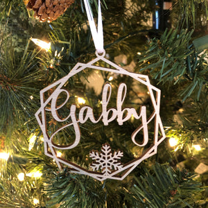 Hexagon Name Ornament